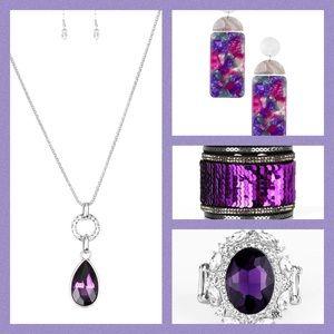 4 piece paparazzi purple set